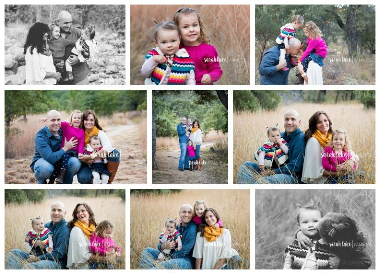 parents snuggling daughters for family portraits