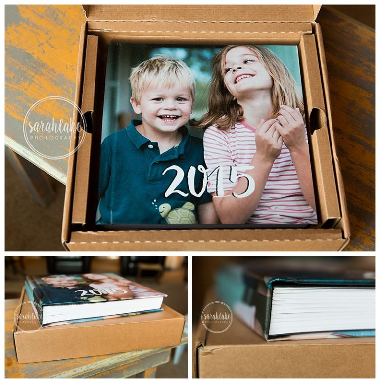 print your family's pictures in an album