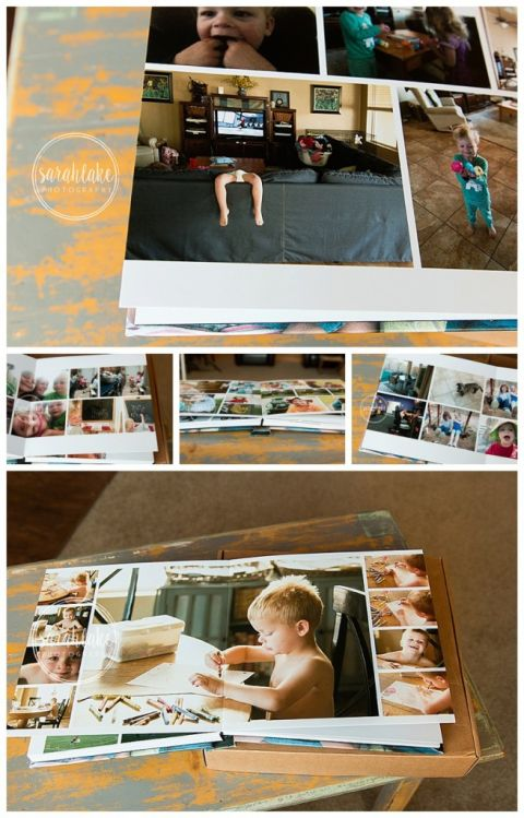 family pictures printed in photo album