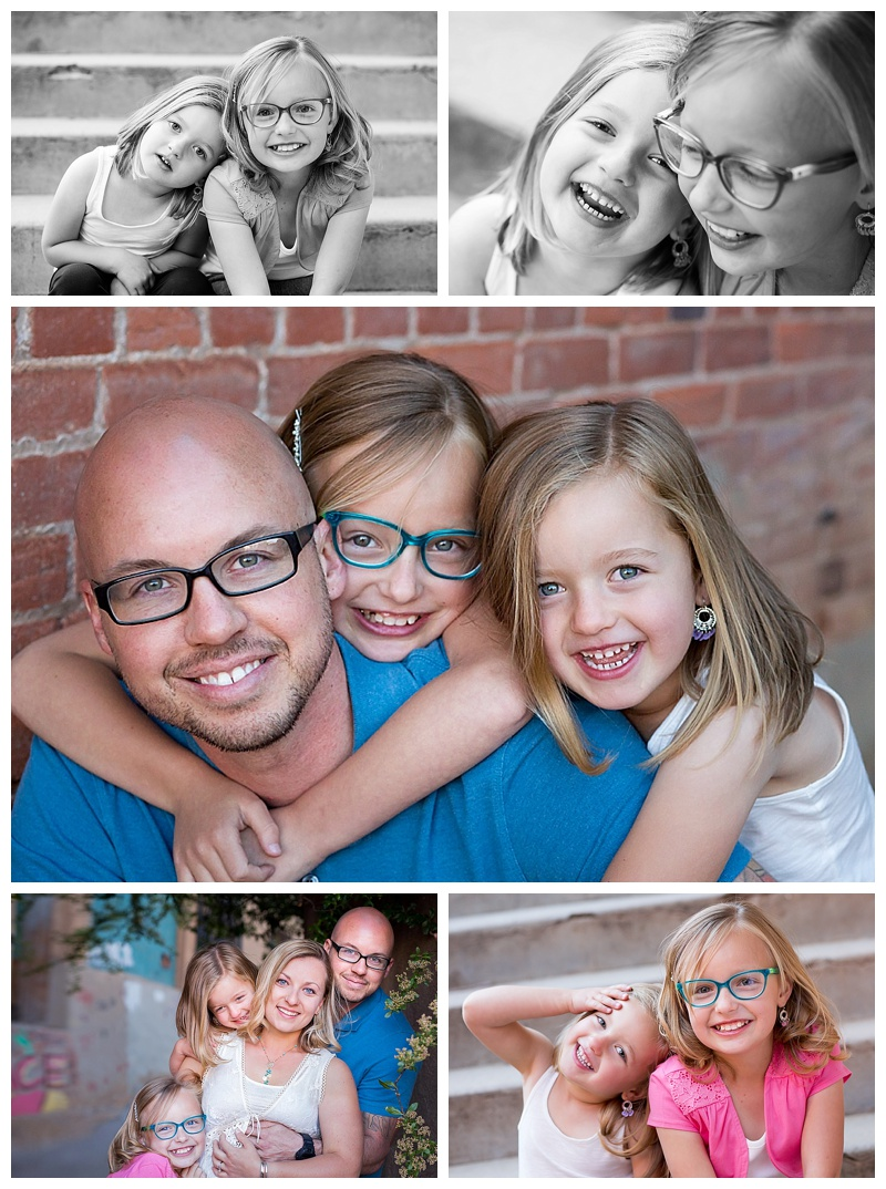 little girls with their dad, family