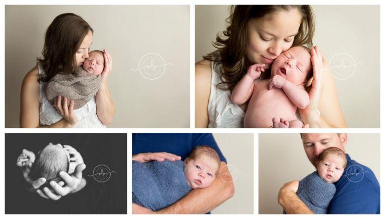 mom and dad holding newborn